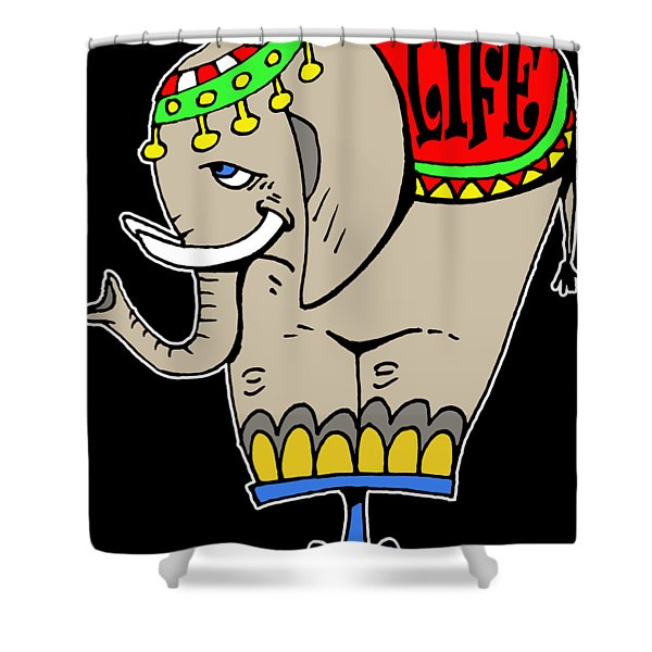 Elephant Life  Shower Curtain