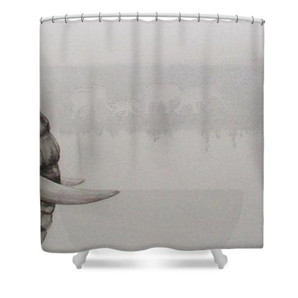 Elephant Tears Shower Curtain