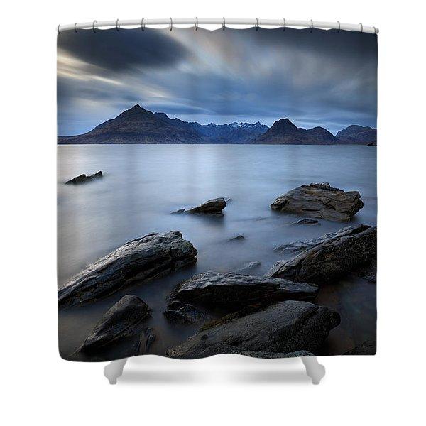 Elgol Rocky Shore Shower Curtain