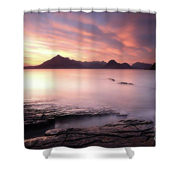 Elgol Sunset Shower Curtain