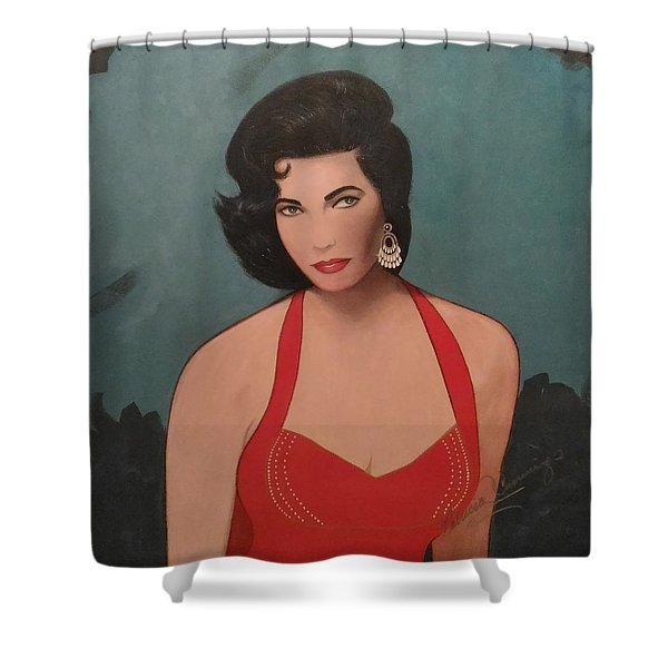 Elizabeth Taylor - Absolutely Beautiful Shower Curtain