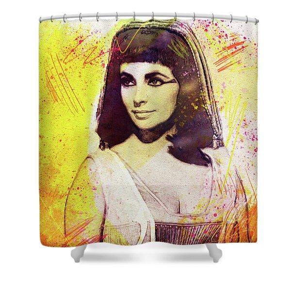 Elizabeth Taylor As Cleopatra Shower Curtain