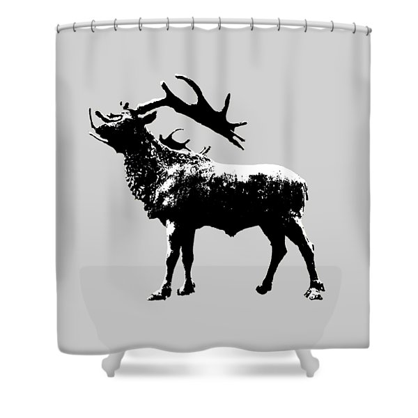 Elk Art Shower Curtain