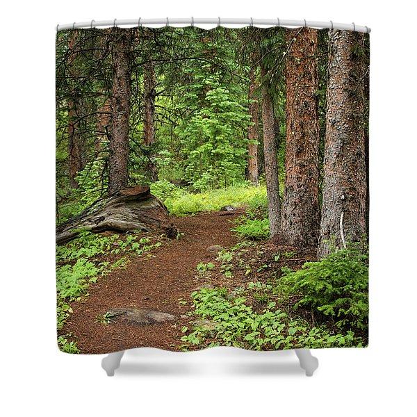 Elk Camp Trail Shower Curtain
