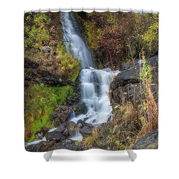 Elk Creek Waterfall Waterscape Art By Kaylyn Franks Shower Curtain
