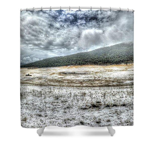 Elk Meado Pano Shower Curtain