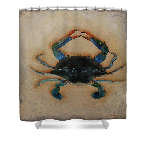 Ellen's Crab Shower Curtain