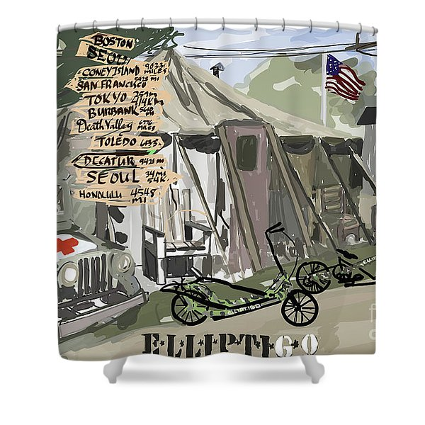 Elliptigo  In The Army Shower Curtain