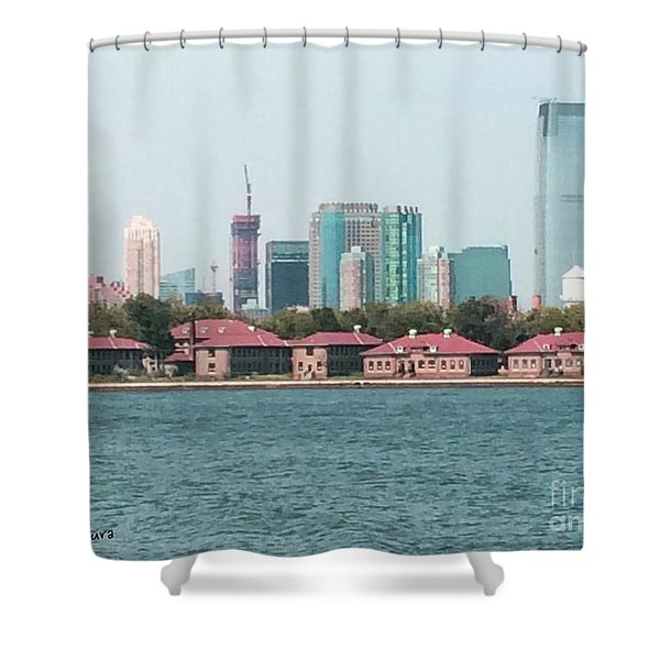 Ellis Island And Nyc Shower Curtain