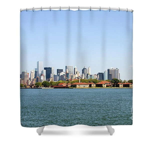 Ellis Island New York City Shower Curtain