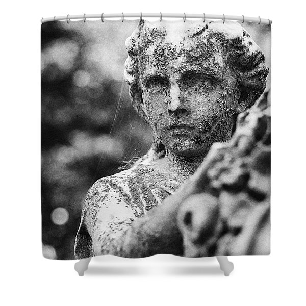 Elmwood Cemetery - Cassie Hill Bw Shower Curtain