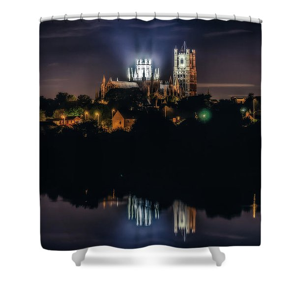 Ely Cathedral By Night Shower Curtain