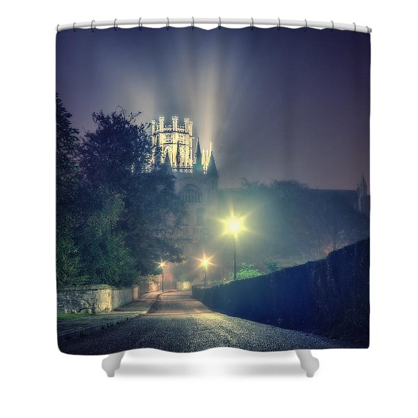 Ely Cathedral - Night Shower Curtain