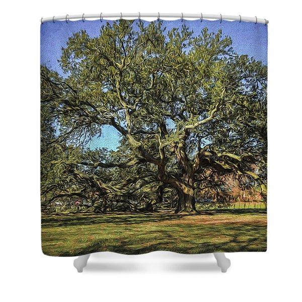 Emancipation Oak Tree Shower Curtain