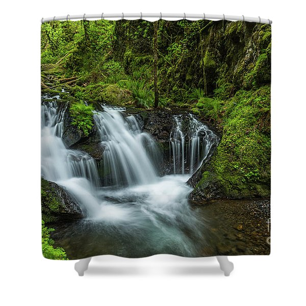 Emeral Falls Waterscape Art By Kaylyn Franks Shower Curtain