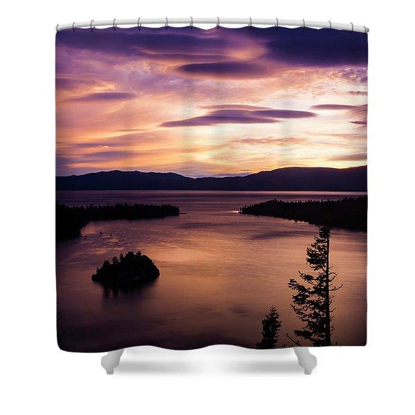 Emerald Bay Sunrise - Lake Tahoe, California Shower Curtain