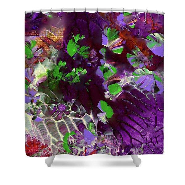 Emerald Butterflies Of Costa Rica Shower Curtain