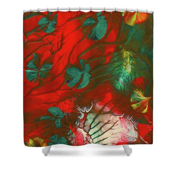 Emerald Butterfly Island Shower Curtain