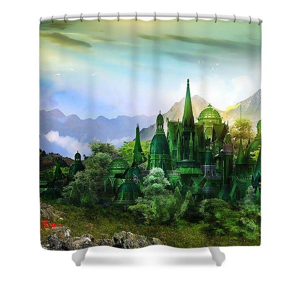 Emerald City Shower Curtain