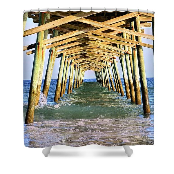 Emerald Isles Pier Shower Curtain