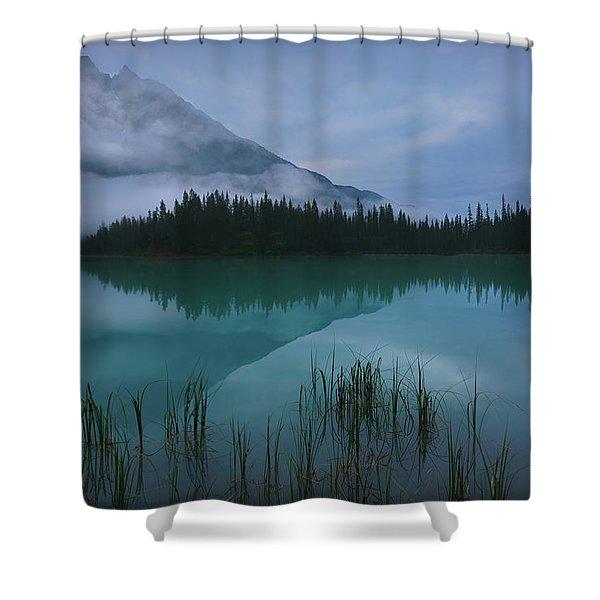Emerald Lake Before Sunrise Shower Curtain