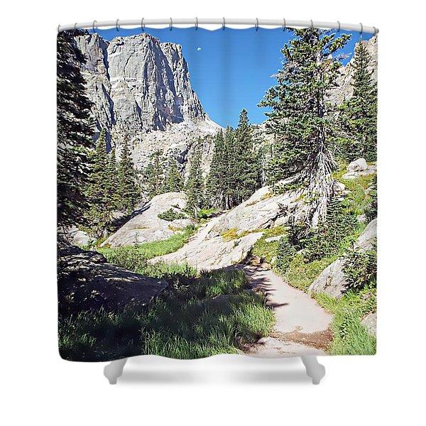 Emerald Lake Trail - Rocky Mountain National Park Shower Curtain