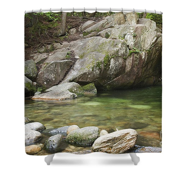 Shower Curtain featuring the photograph Emerald Pool - White Mountains New Hampshire Usa by Erin Paul Donovan