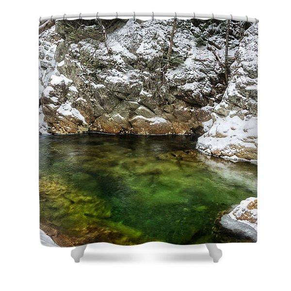 Emerald Pool Ellis River Nh Shower Curtain