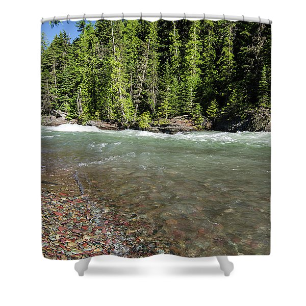Emerald Waters Flow Shower Curtain