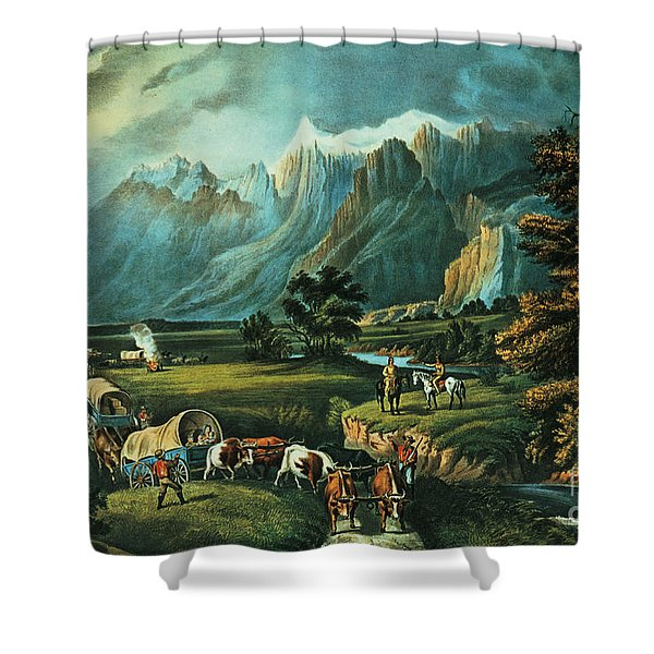 Emigrants Crossing The Plains Shower Curtain