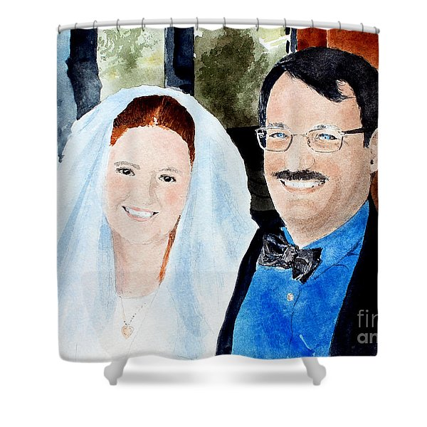 Emily And Jason Shower Curtain