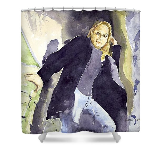 Emily The Pirate Shower Curtain