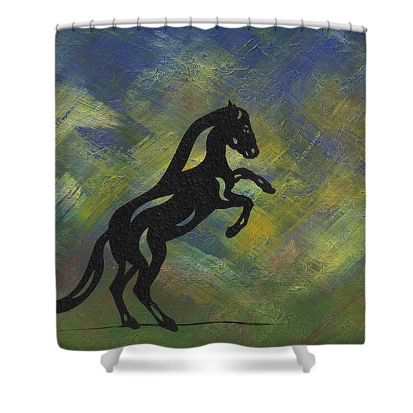 Emma II - Abstract Horse Shower Curtain