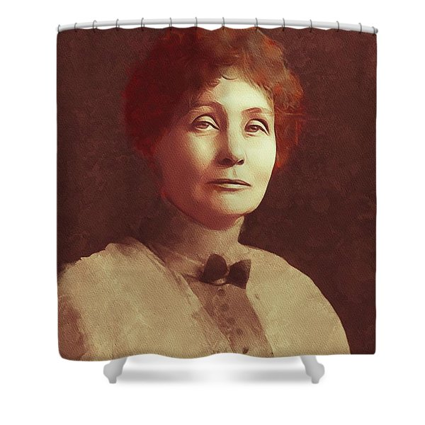 Emmeline Pankhurst, Suffragette Shower Curtain