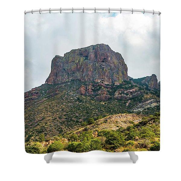 Emory Peak Chisos Mountains Shower Curtain