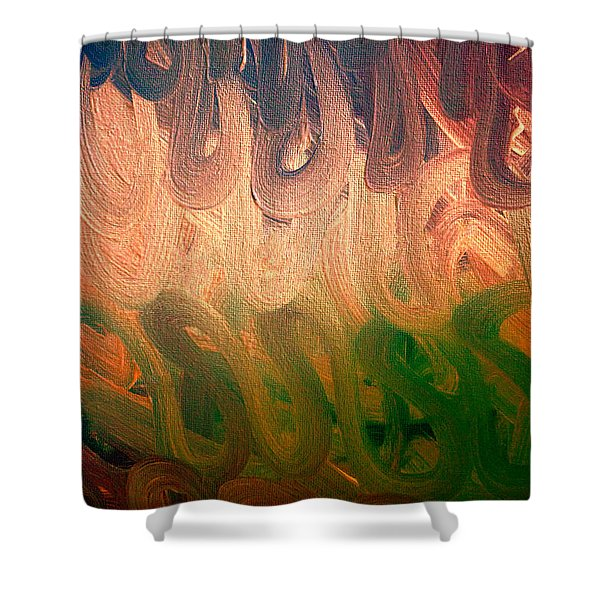 Emotion Acrylic Abstract Shower Curtain