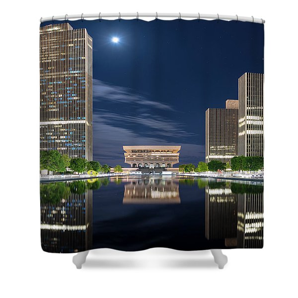 Empire State Plaza Shower Curtain