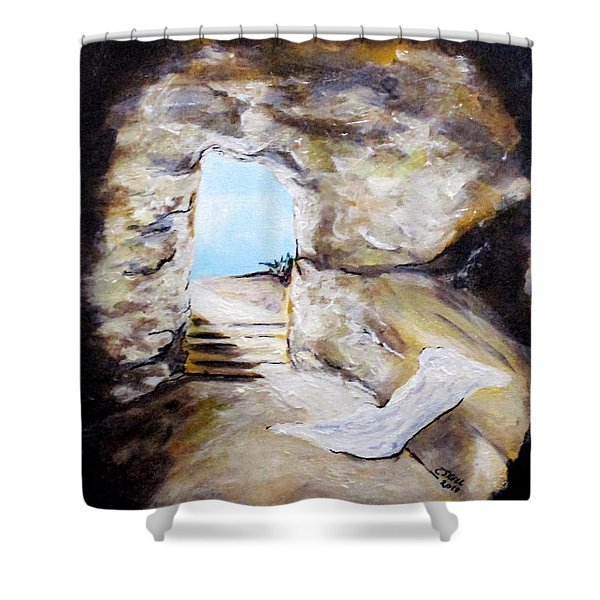Empty Burial Tomb Shower Curtain