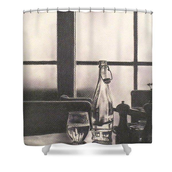 Empty Glass Shower Curtain