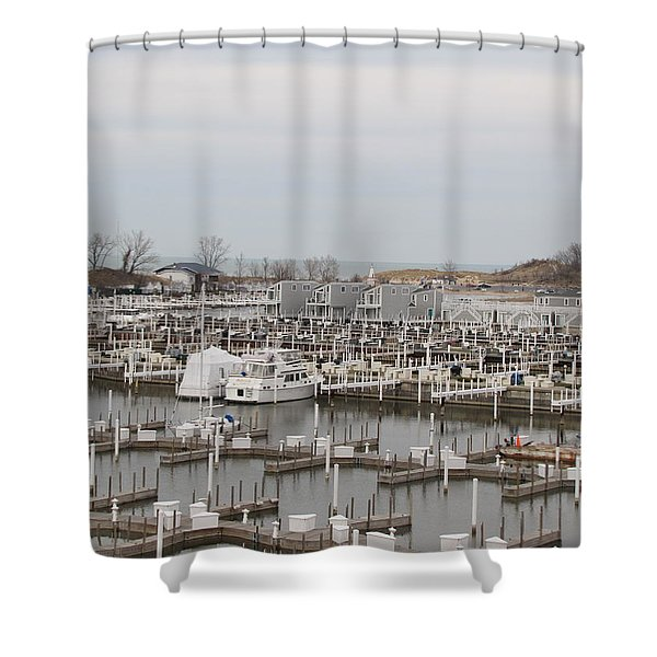 Empty Harbor Shower Curtain