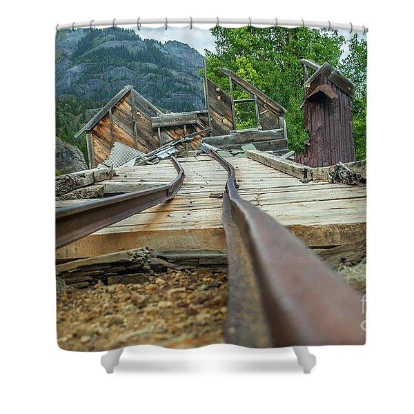 Empty Tracks Shower Curtain