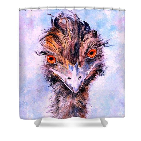 Emu Eyes Shower Curtain