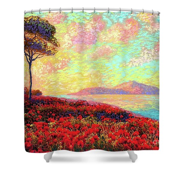 Enchanted By Poppies Shower Curtain