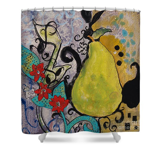 Enchanted Pear Shower Curtain