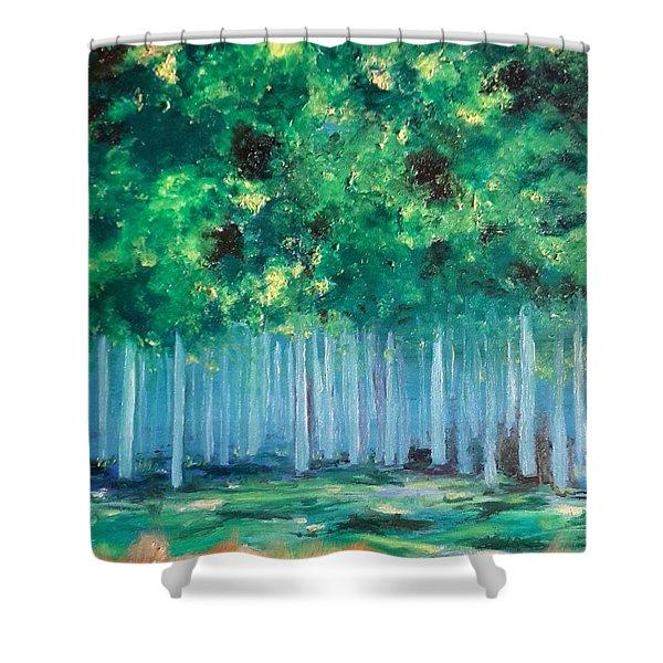 Enchanted Poplars Shower Curtain