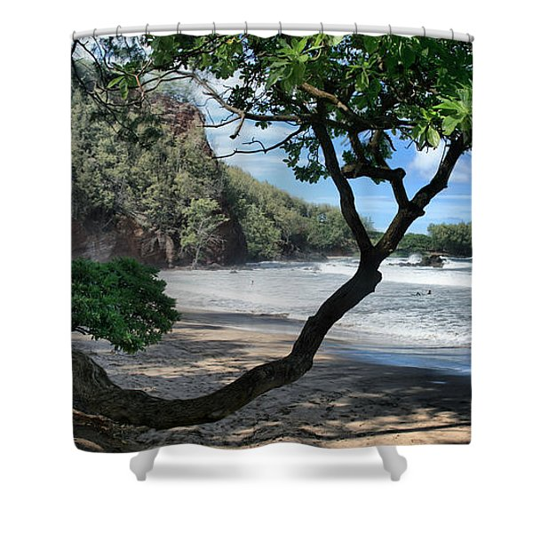 Enchanted Rocks Koki Beach Haneoo Hana Maui Hawaii Shower Curtain