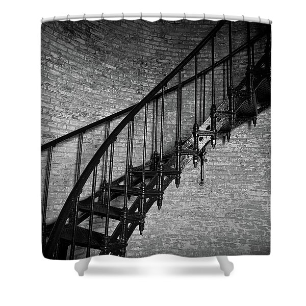 Enchanted Staircase II - Currituck Lighthouse Shower Curtain