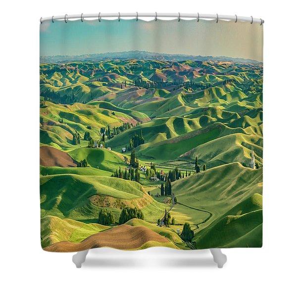 Enchanted Valley Award Winner Shower Curtain