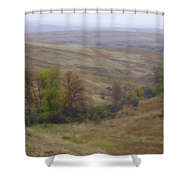 Shower Curtain featuring the photograph Enchantment Of The September Grasslands by Cris Fulton