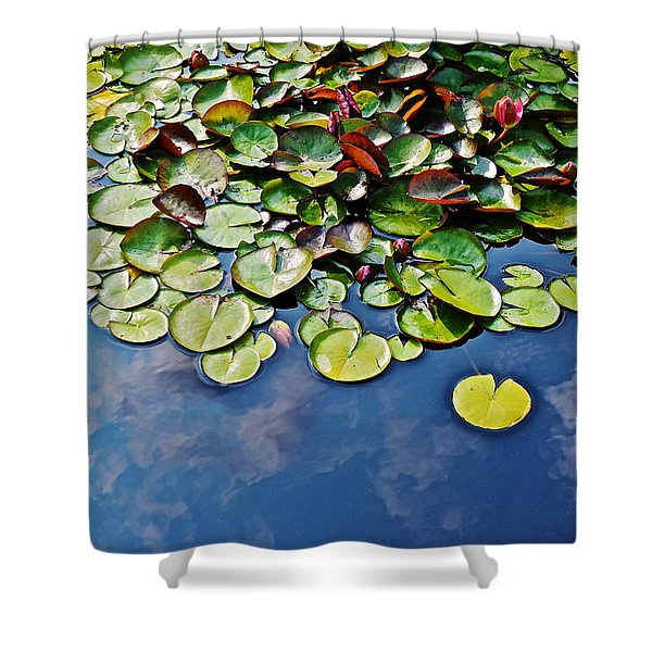 End Of July Water Lilies In The Clouds Shower Curtain